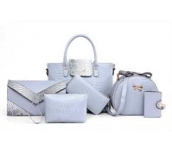 Жіноча сумка набір 6в1 блакитний
