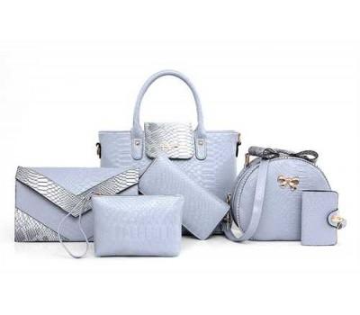 Женская сумка набор 6в1 голубой