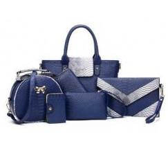 Жіноча сумка набір 6в1 синій