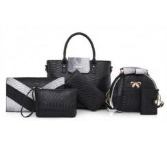 Жіноча сумка набір 6в1 чорний