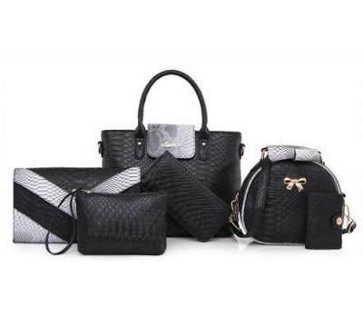 Женская сумка набор 6в1 черный