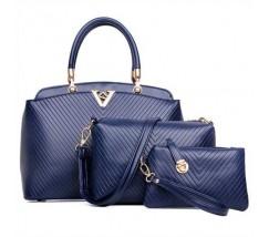 Жіноча сумка набір 3в1 синя