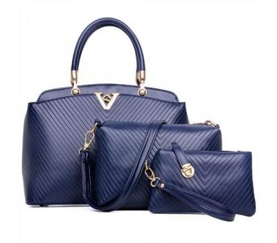 Женская сумка набор 3в1 синяя