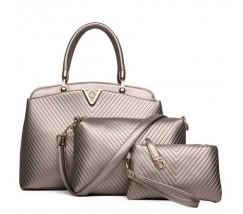 Жіноча сумка набір 3в1 золота