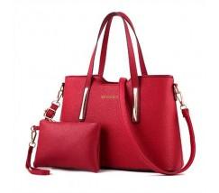 Сумка жіноча з гаманцем червона