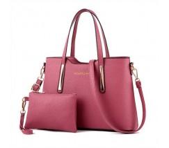 Сумка жіноча з гаманцем рожева