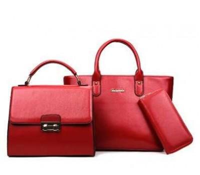 Женская сумка набор 3в1 красная