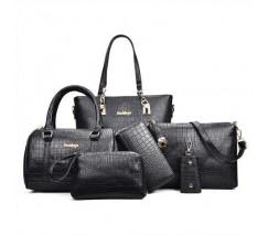 Женская сумка набор 6в1 черного цвета