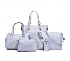 Жіноча сумка набір 6в1 блакитного кольору