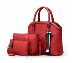 Набір червоних сумок 3в1 з брелоком