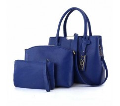 Синяя женская сумка набор 3в1