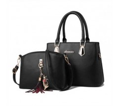 Жіноча сумка + міні сумочка клатч чорна