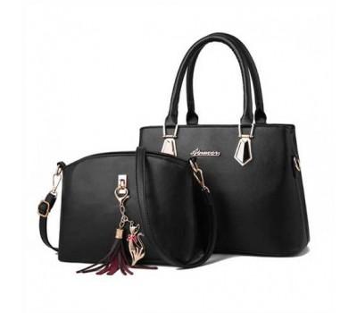 Женская сумка + мини сумочка клатч черная
