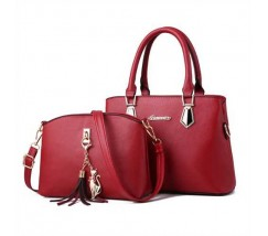 Женская сумка + мини сумочка клатч красная