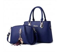 Женская сумка + мини сумочка клатч синяя