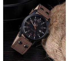 Чоловічий наручний годинник Soki темно-коричневий