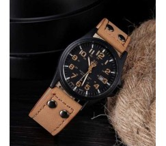 Чоловічий наручний годинник Soki світло-коричневий