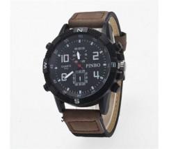 Чоловічий спортивний годинник Pinbo темно-коричневий