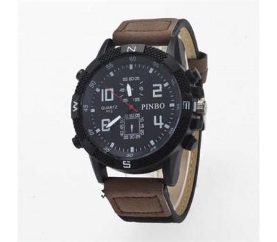 Мужские спортивные часы Pinbo темно-коричневые