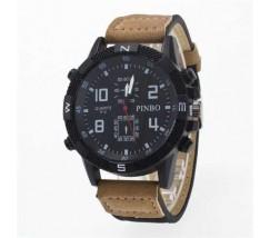 Чоловічий спортивний годинник Pinbo світло-коричневий