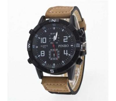 Мужские спортивные часы Pinbo светло-коричневые