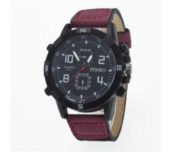 Чоловічий спортивний годинник Pinbo темно-червоний