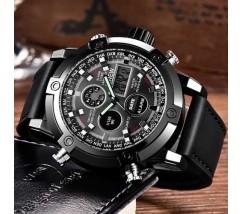 Армійський чоловічий годинник чорний