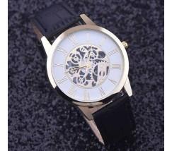 Мужские часы скелетон черные