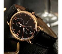 Стильные мужские наручные часы Yazole черные