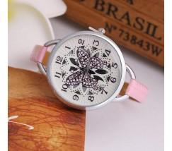 """Наручные часы женские """"Бабочка"""" розовые"""