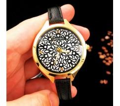 Часы наручные с узором черные