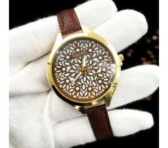 Часы наручные с узором коричневые
