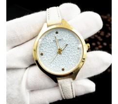 Часы наручные с узором белые
