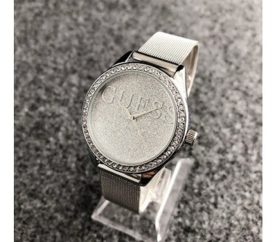 Женские наручные часы Guess копия серебристые