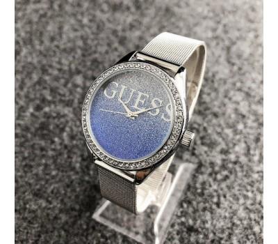 Женские наручные часы Guess копия голубые