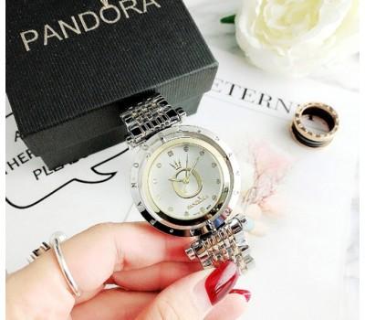 Женские часы Pandora серебро с золотом