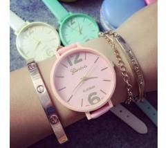 Женские часы браслет розовые