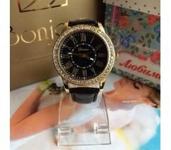 Женские наручные часы Geneva Swarovski черные
