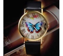Часы женские наручные с бабочкой черные