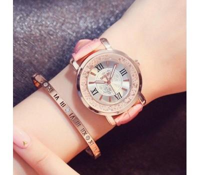 Красивые женские часы розовые