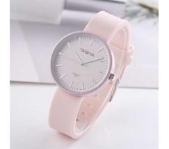 Силиконовые женские часы розовые