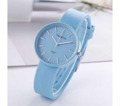 Силиконовые женские часы голубые