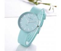 Силіконовий жіночий годинник бірюзовий