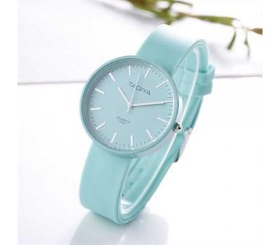Силиконовые женские часы бирюзовые