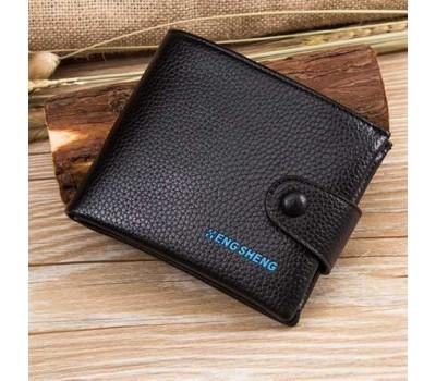 Классический мужской бумажник черный