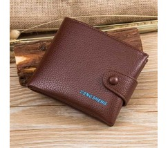 Классический мужской бумажник коричневый
