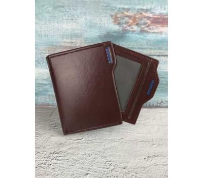Кошелек бумажник мужской Bogesi коричневый