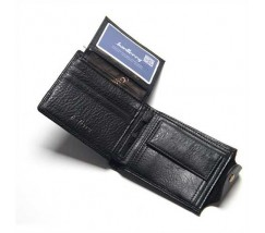 Чоловічий гаманець з екошкіри чорний