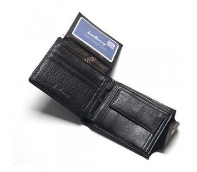 Мужской бумажник из экокожи черний