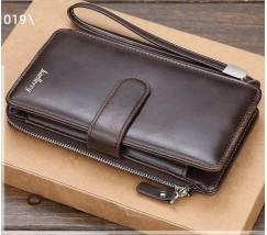 Мужской клатч портмоне темно-коричневый